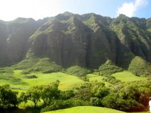 Kualoa Ranch Mountains in Hawaii