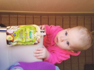 Baby food pouches are great for travel